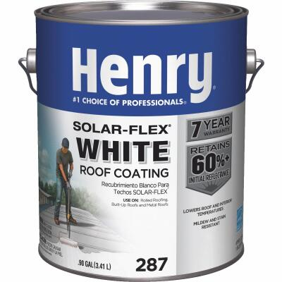 Henry Solar-Flex 1 Gal. White Acrylic Latex Elastomeric Roof Coating