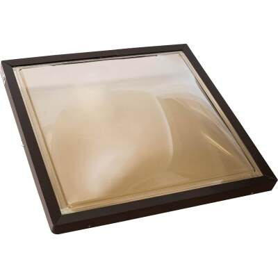 Kennedy Skylights 24 In. x 24 In. Bronze Aluminum Frame Curb Mount Skylight