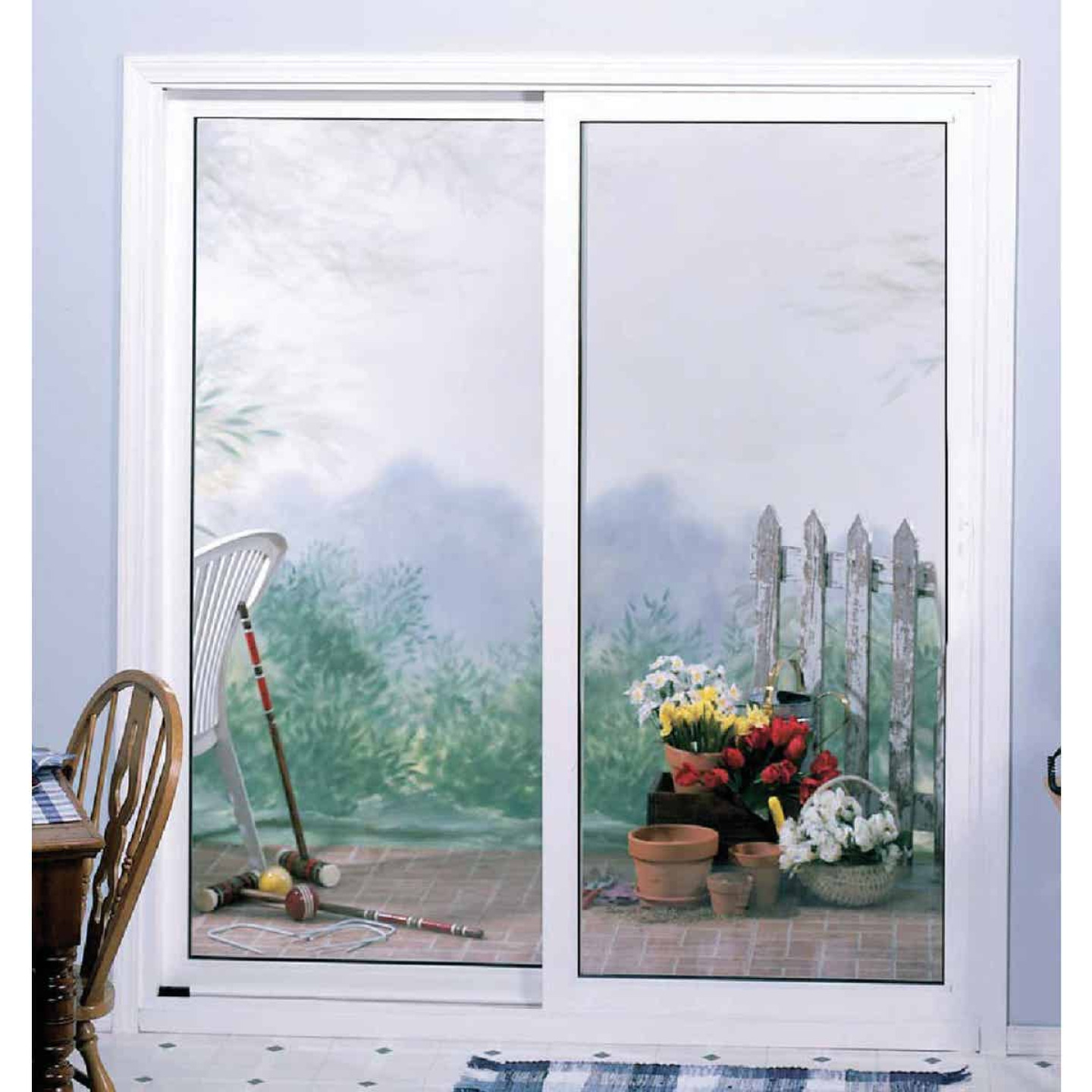 Interstate Model 4202 6/0-6/8 Reversible White Sliding Patio Door with South Glass Pack Image 2
