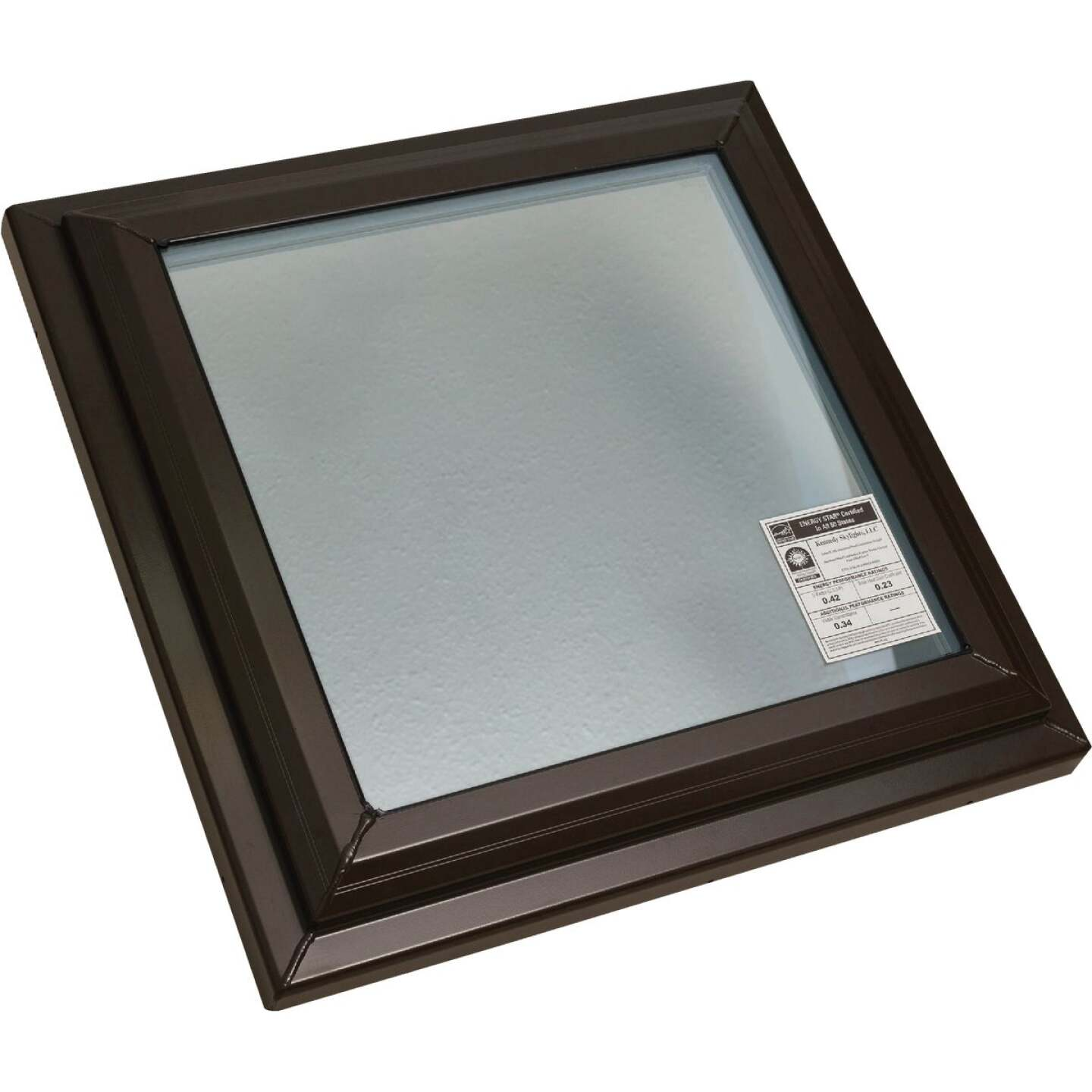 Kennedy Skylights 24 In. x 24 In. Bronze Fixed Glass Skylight Image 1