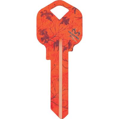 ILCO Kwikset Realtree Orange Blaze Camo Design Decorative Key, KW1