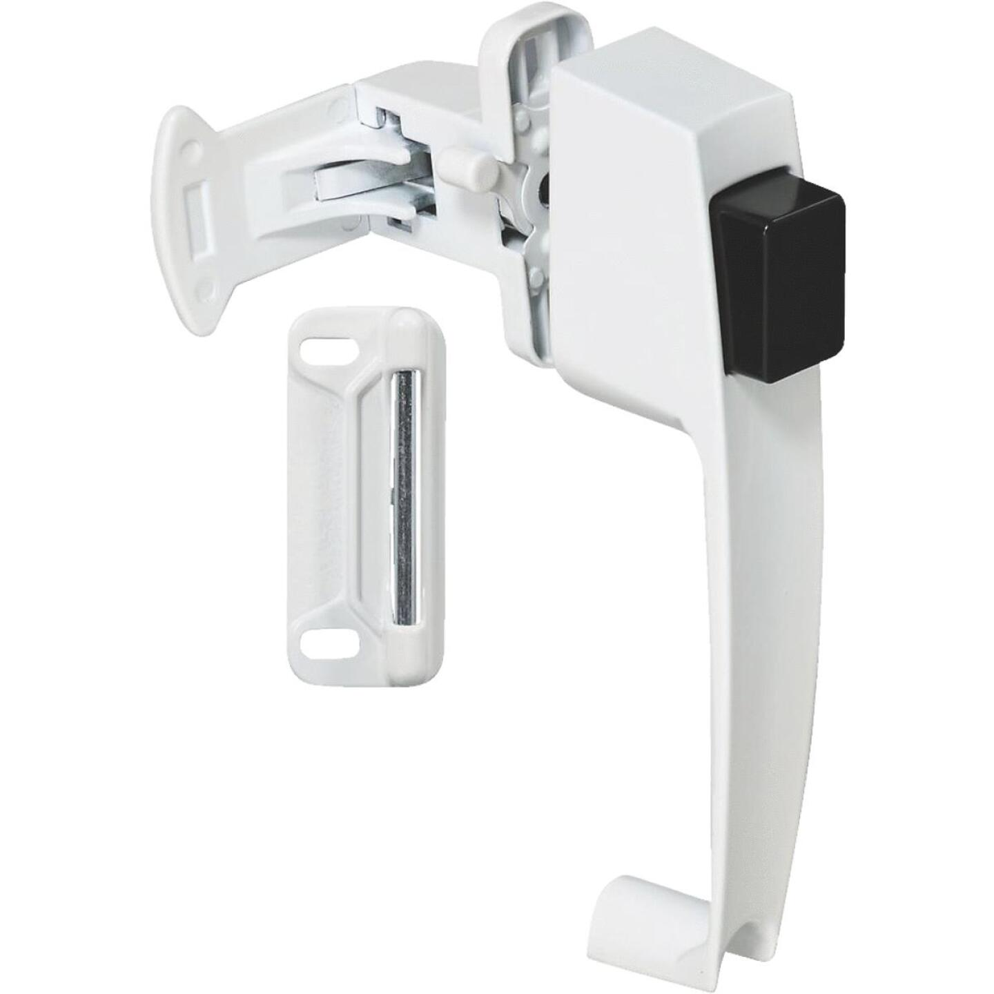 National White Push Button Latch Image 1