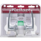 Kwikset Satin Chrome Delta Passage Door Lever Image 2