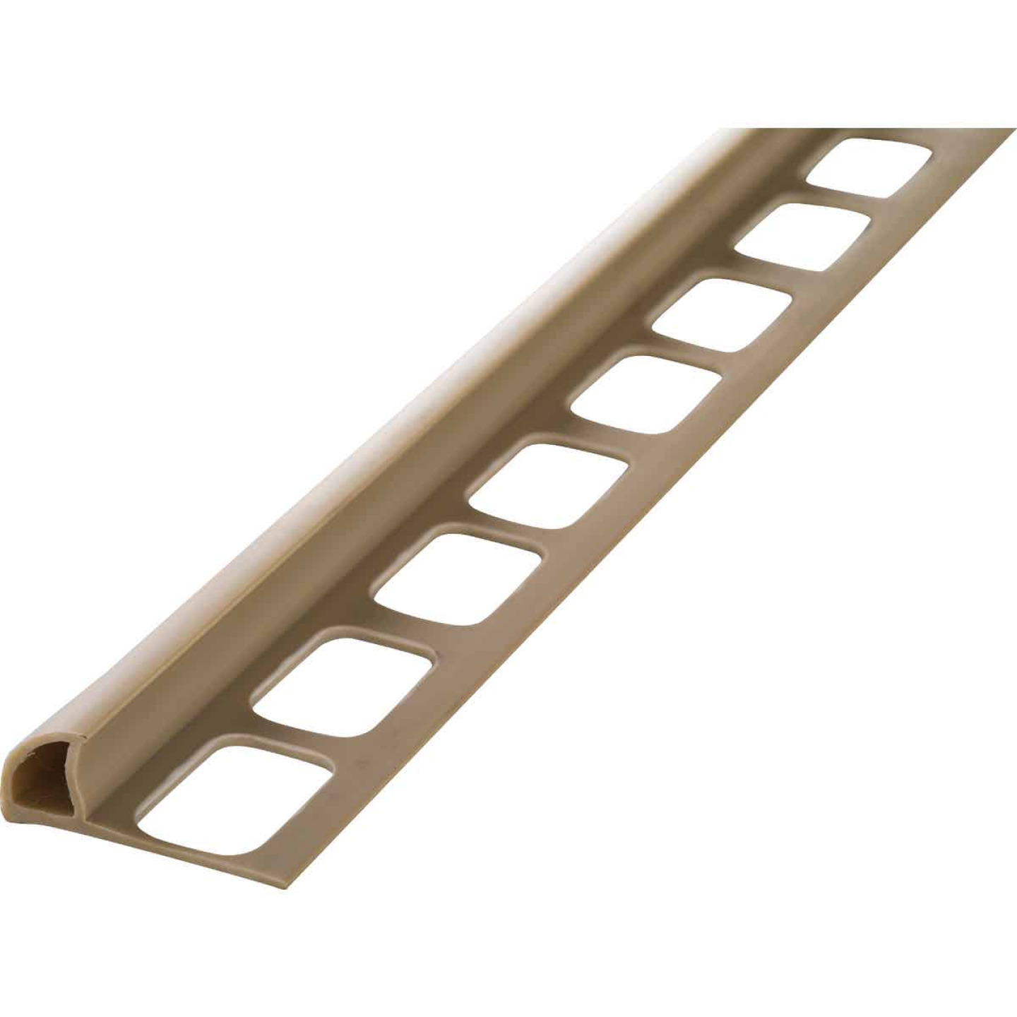 M D Building Products 3/8 In. x 8 Ft. Beige PVC Bullnose Tile Edging Image 1