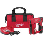 Milwaukee M12 12-Volt Lithium-Ion 3/8 In. Crown Cordless Finish Stapler Kit Image 1
