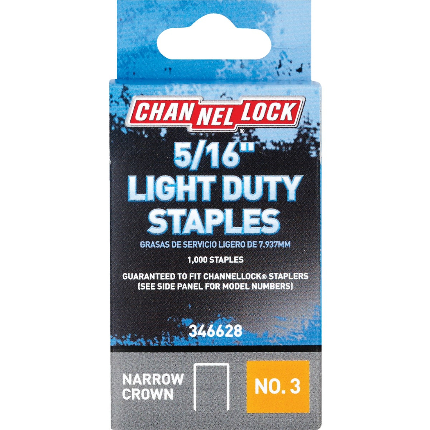 Channellock No. 3 Light Duty Narrow Crown Staple, 5/16 In. (1000-Pack) Image 1
