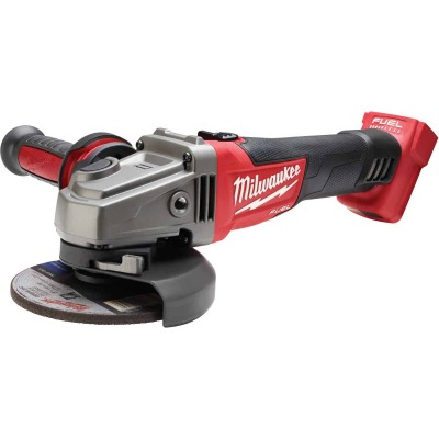 Milwaukee M18 FUEL 18 Volt Lithium-Ion 4-1/2 In. - 5 in. Brushless Cordless Angle Grinder, Slide Switch Lock-On (Bare Tool)