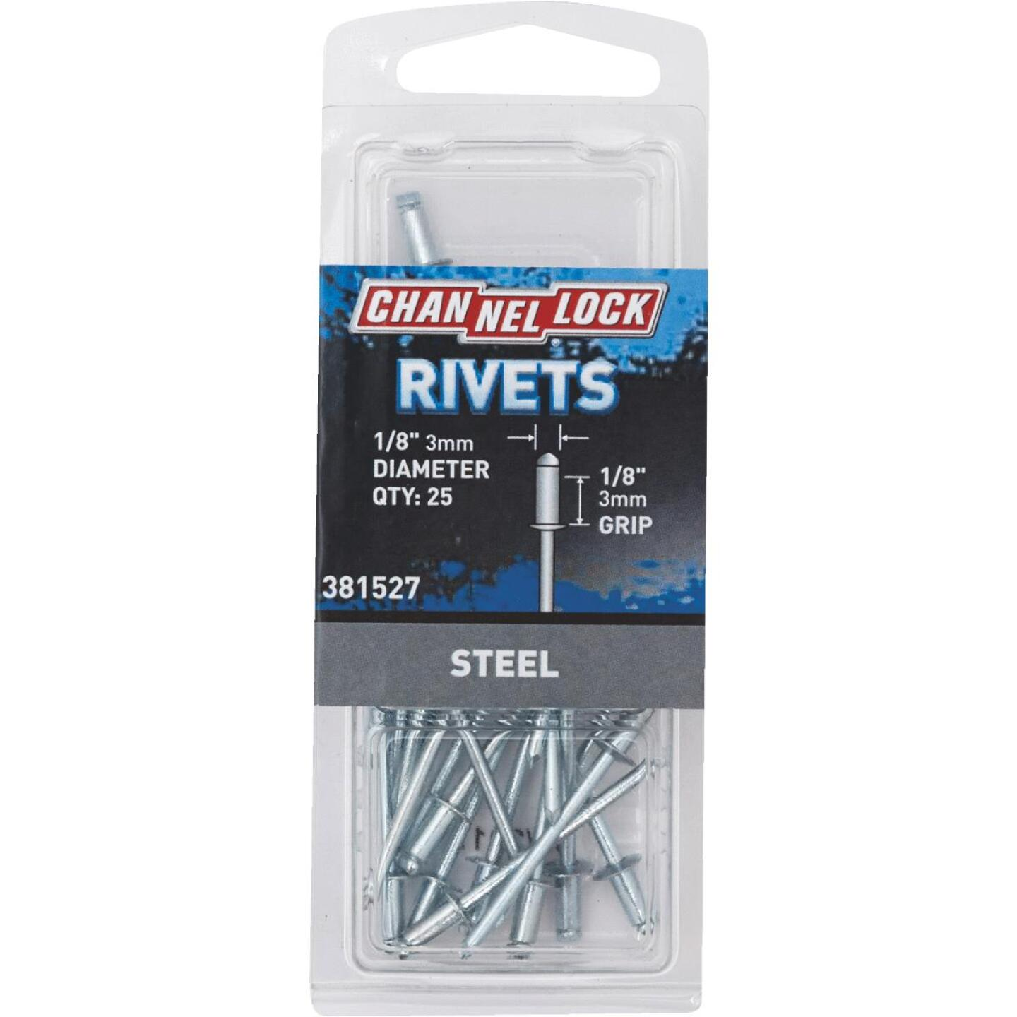 Channellock 1/8 In. Dia. x 1/8 In. Grip Steel POP Rivet (25-Pack) Image 1