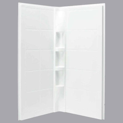 Sterling 2-Piece 39 In. W. x 79-1/8 In. H. x 39 In. D. White Shower Wall Set