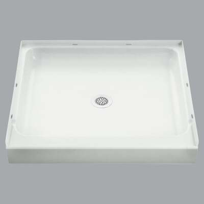 Sterling Ensemble 36 In. W x 34 In. D Center Drain Shower Floor & Base in White