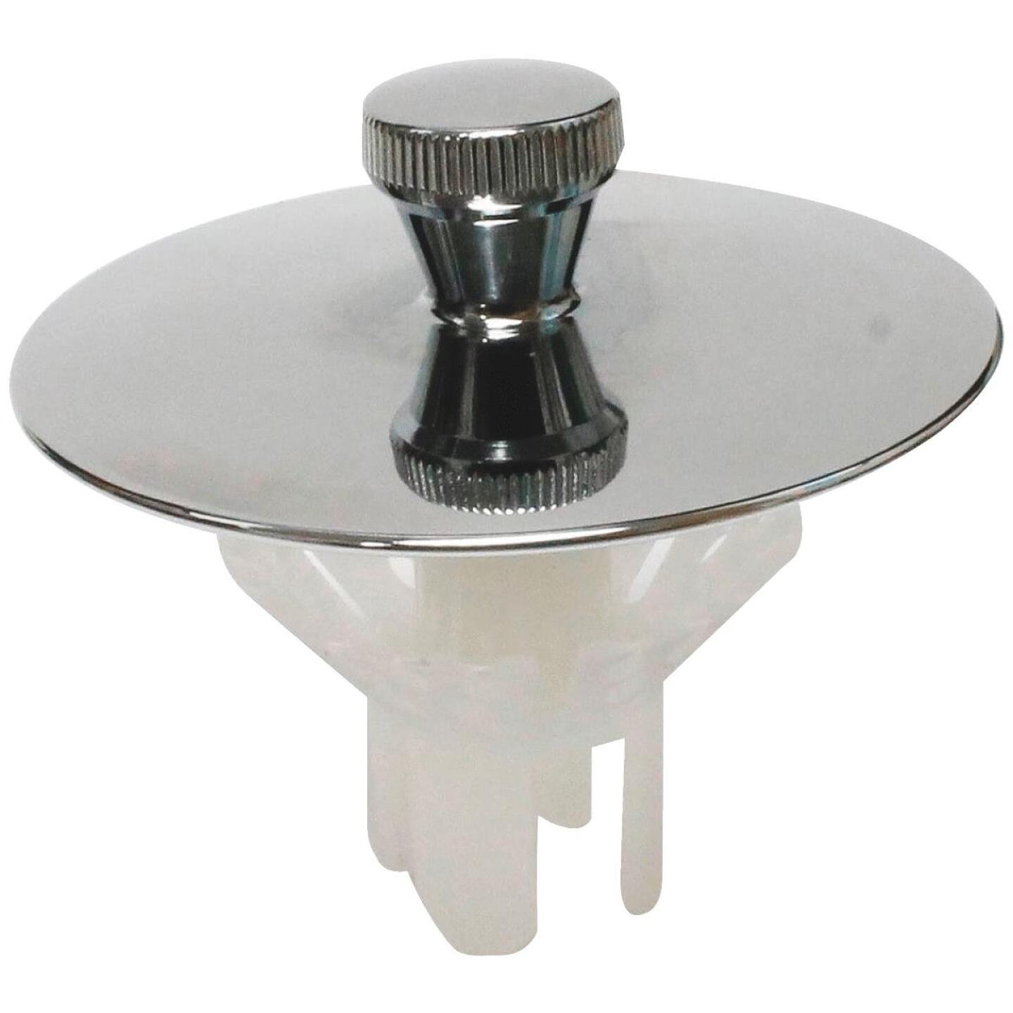 Keeney Quick-N-Easy Bathtub Drain Stopper with Polished Chrome Finish Image 1