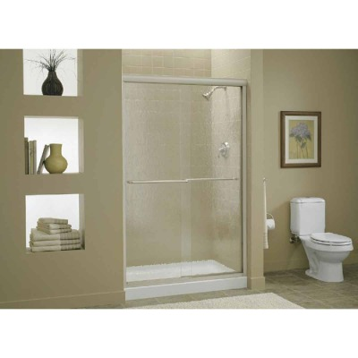 Sterling Finesse 47-5/8 In. W. X 70-5/16 In. H. Chrome Frameless Clear Sliding Shower Door