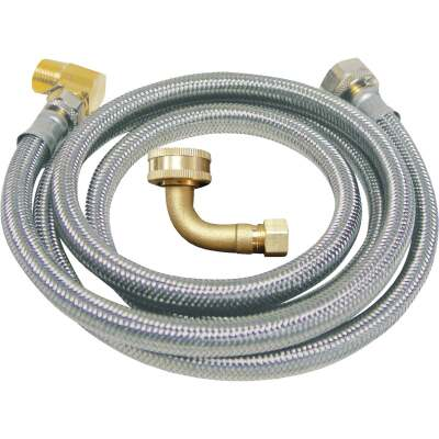 B&K 3/8 In. x 3/8 In. x 48 In. Stainless Steel Dishwasher Connector