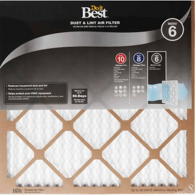 Do it Best 12 In. x 12 In. x 1 In. Dust & Lint MERV 6 Furnace Filter