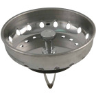 Do it Best Stainless Steel Spring Action Basket Strainer Stopper Image 1