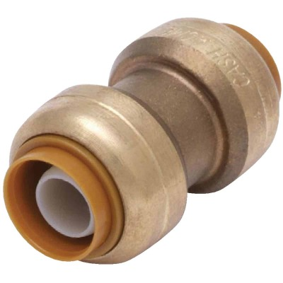 SharkBite 1/2 In. Push-to-Connect Straight Brass Coupling