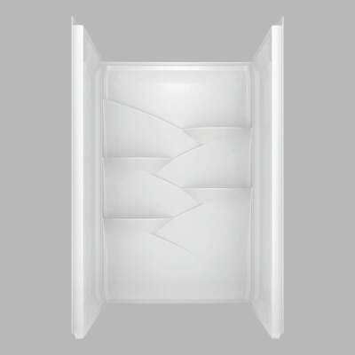 Delta Laurel 3-Piece 48 In. L x 34 In. D Shower Wall Set in White