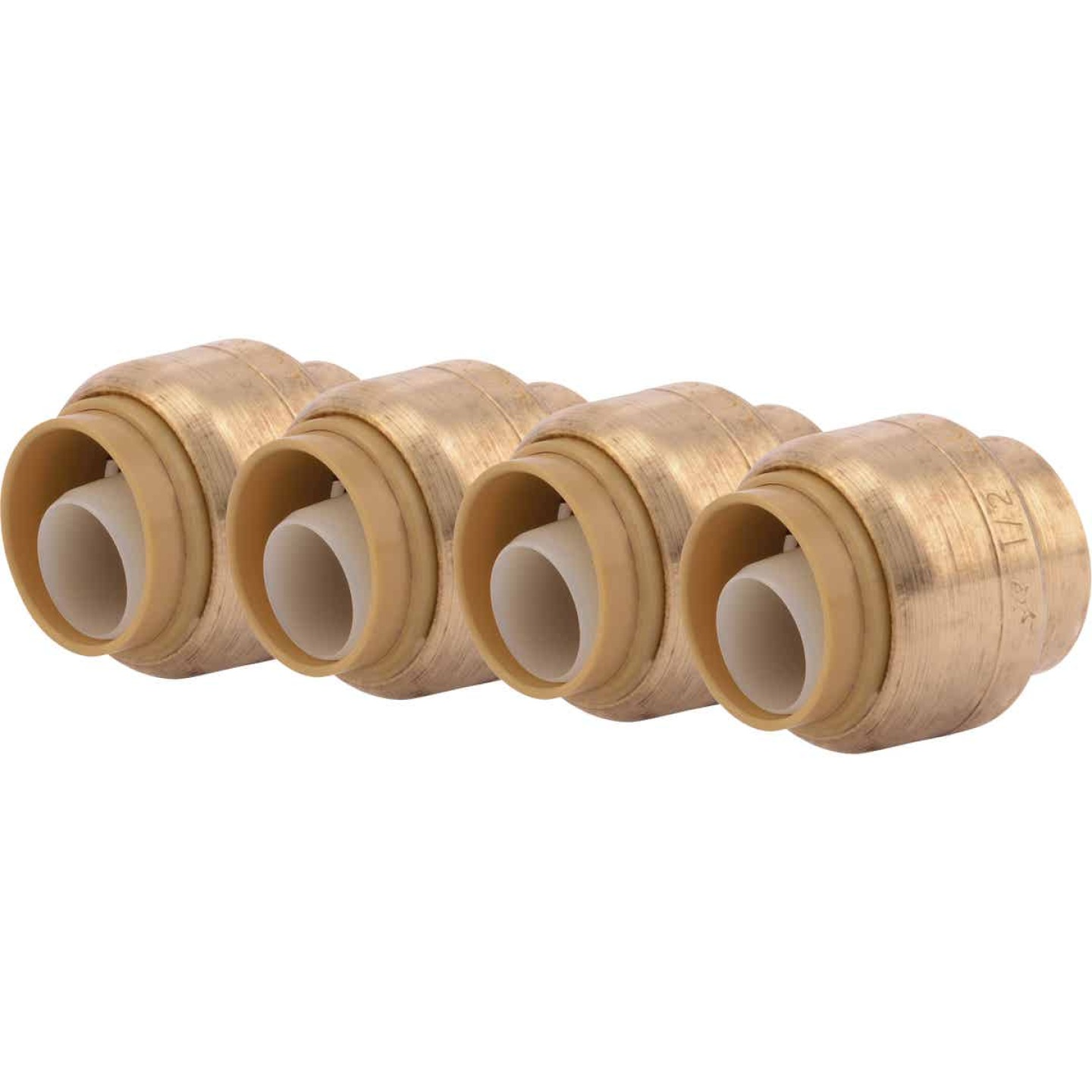 SharkBite 1/2 In. Push-to-Connect Brass End Push Cap (4-Pack) Image 1