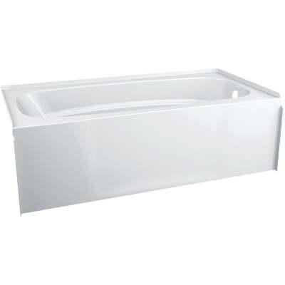 Delta Hycroft 60 In. L x 30 In. W Right Drain Bathtub in White