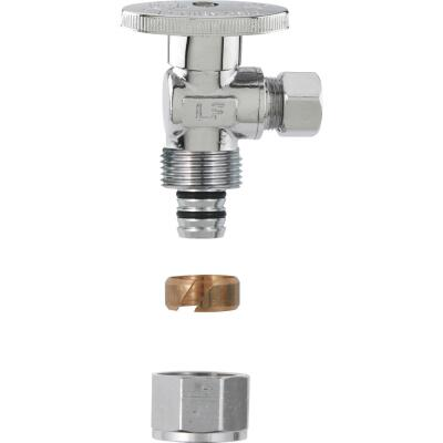 Plumb Pak No Crimp 1/2 In. x 1/4 In. Quarter Turn PEX Angle Valve
