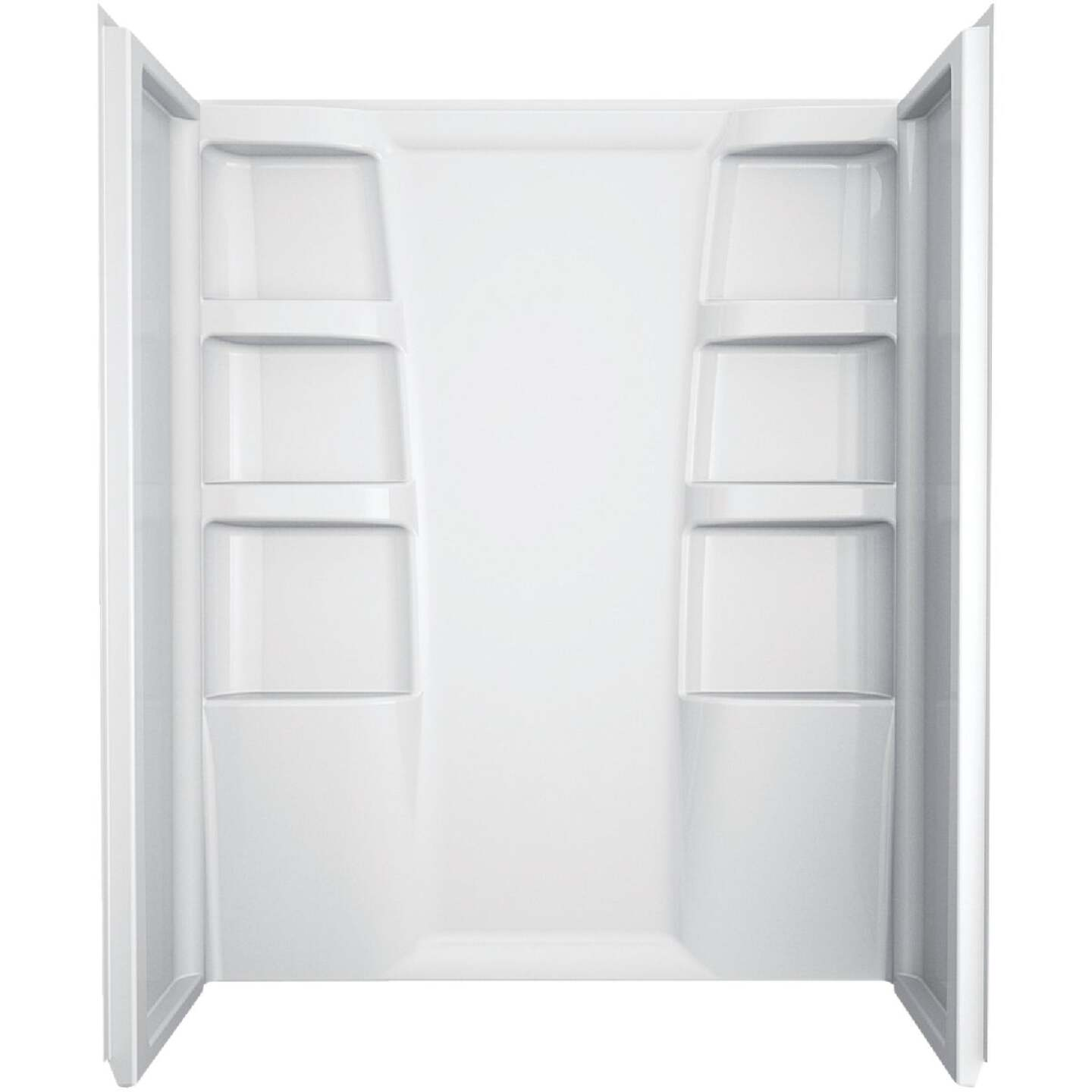 Delta Hycroft 3-Piece 60 In. L x 30 In. D Shower Wall Set in White Image 1