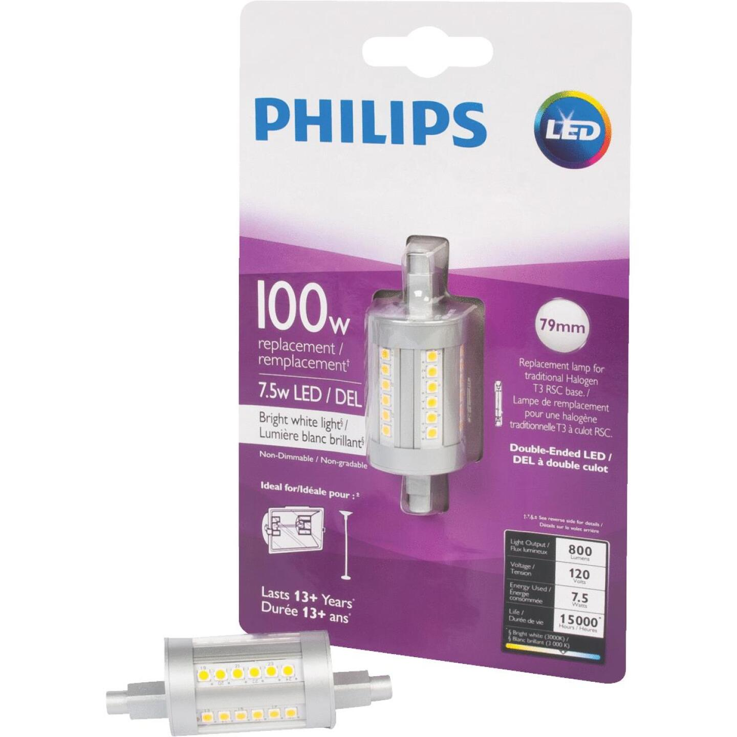 Philips 100W Equivalent Bright White T3 RSC Base LED Special Purpose Light Bulb Image 1