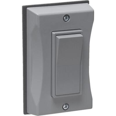 Bell Single Gang Vertical Mount Gray Weatherproof Outdoor Rocker Switch Cover
