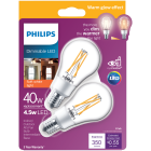 Philips Warm Glow 45W Equivalent Soft White A15 E17 Base Dimmable LED Light Bulb (2-Pack) Image 2