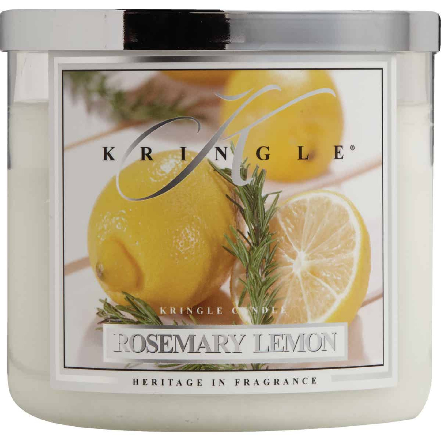 Kringle Candle 14.5 Oz. Rosemary Lemon Jar Candle Image 2