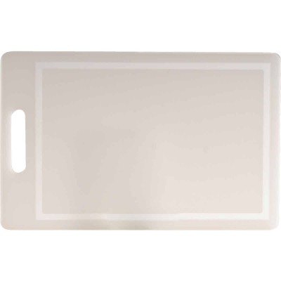 Norpro 10 In. x 16 In. White Polyethylene Professional Cutting Board