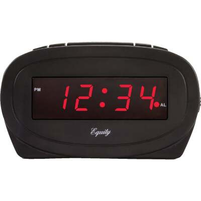 La Crosse Technology Equity Black Electric Alarm Clock