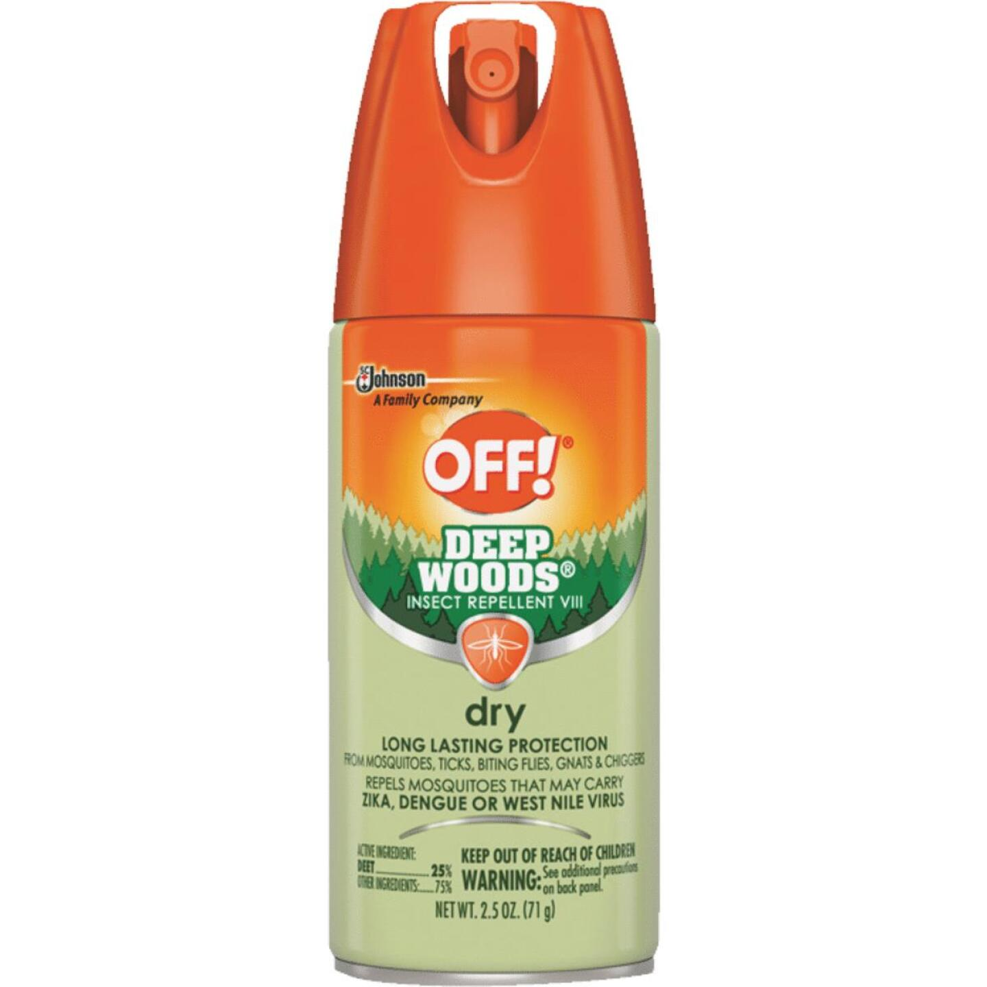 Deep Woods Off 2.5 Oz. Dry Insect Repellent Aerosol Spray Image 1