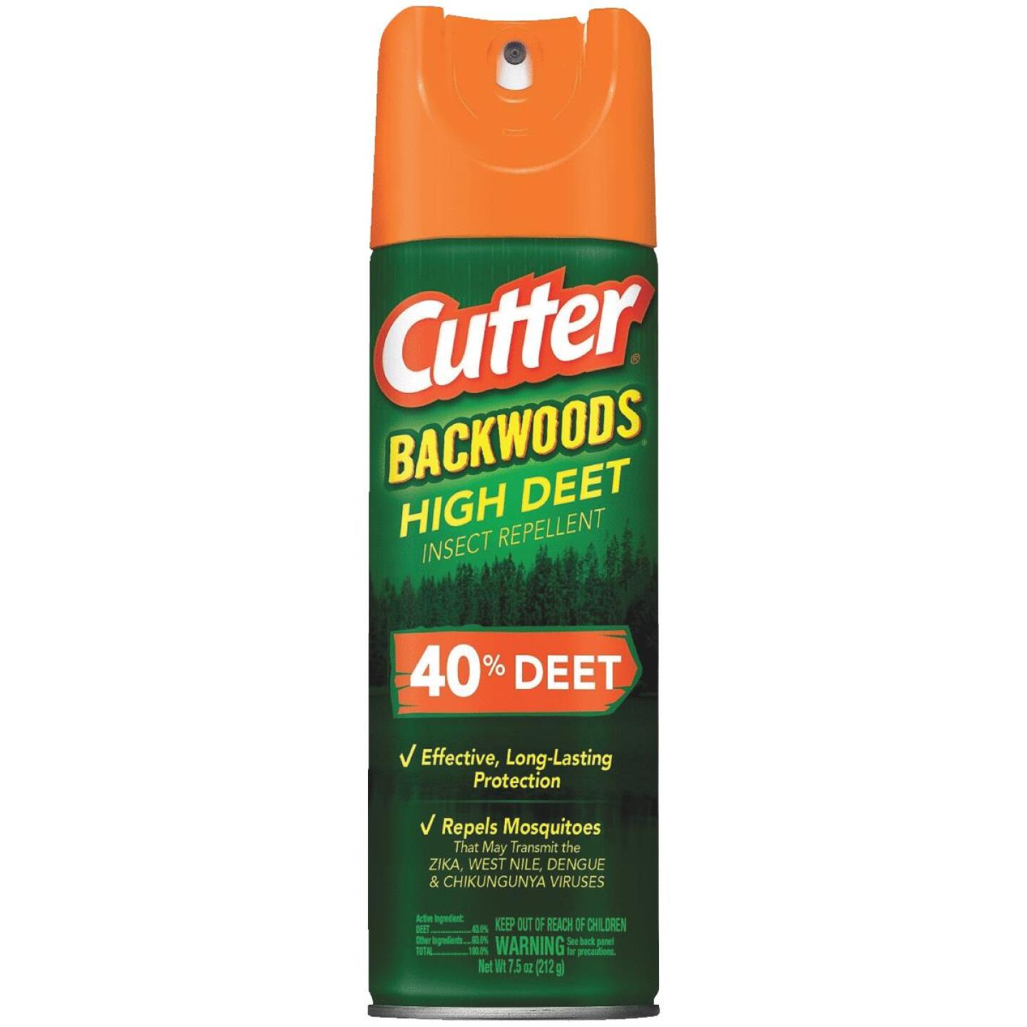 Cutter Backwoods High Deet 7.5 Oz. Insect Repellent Aerosol Spray Image 1