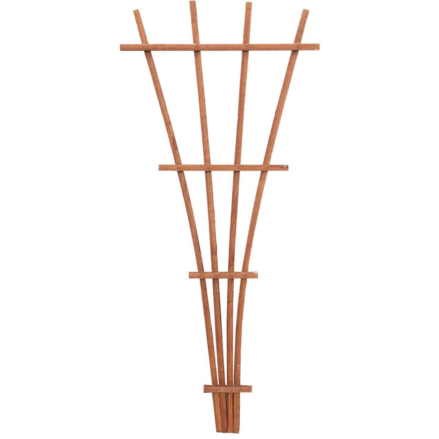 Panacea 48 In. Brown Wood Fan Trellis Image 1