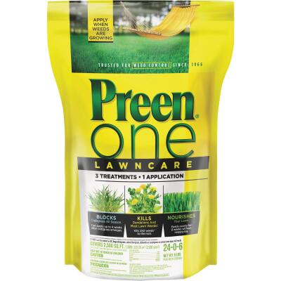 Preen One Lawn Care 9 Lb. Ready To Use Granules Weed Killer with Fertilizer