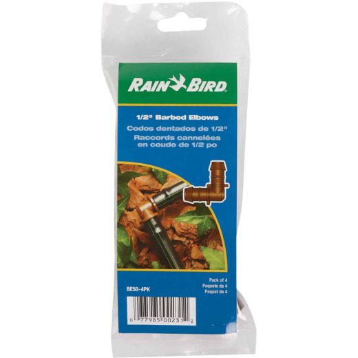 Rain Bird 1/2 In. Tubing Barbed Elbow (4-Pack)