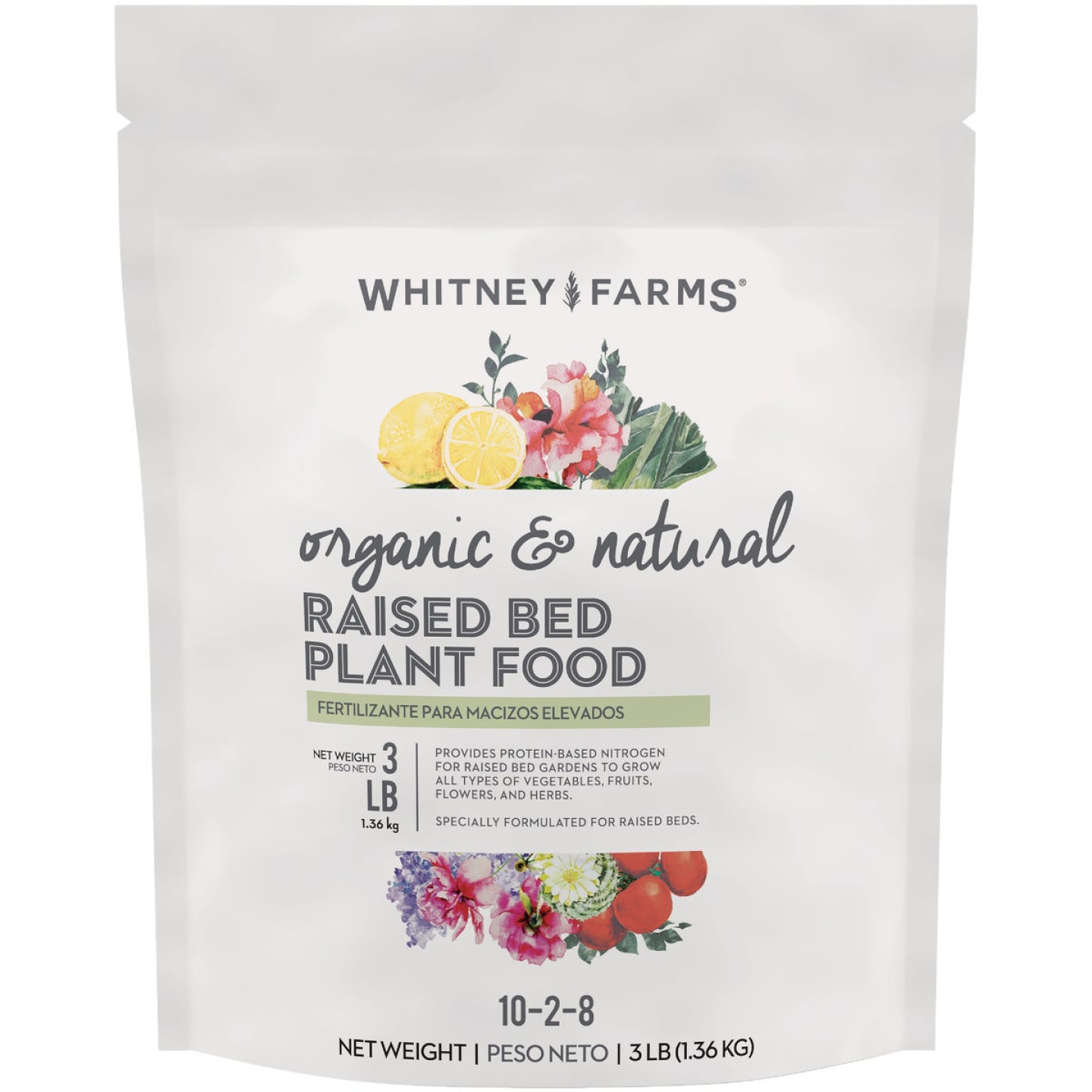Whitney Farms 3 Lb. 10-2-8 Organic Raised Bed Dry Plant Food Image 1