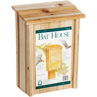 North States 8 In. W. x 15 In. H. x 4.75 In. D. Redwood Bat House