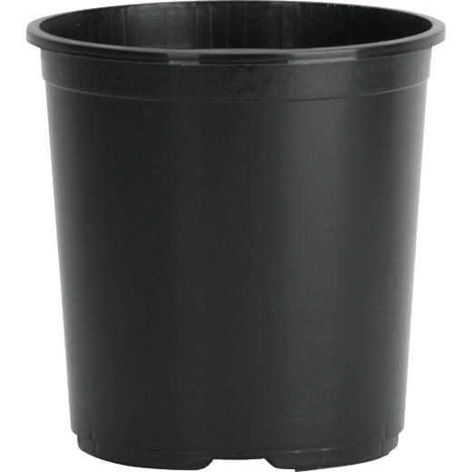 Myers 3 Gal. 9 In. H. x 10-1/2 In. Dia. Black Poly Flower Pot