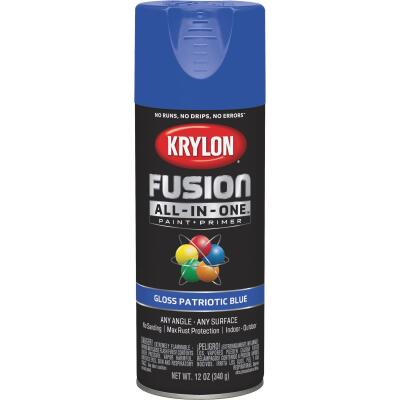 Krylon Fusion All-In-One Gloss Spray Paint & Primer, Patriotic Blue