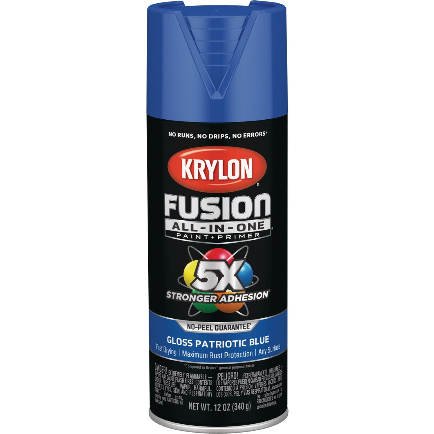 Krylon Fusion All-In-One Gloss Spray Paint & Primer, Patriotic Blue Image 1