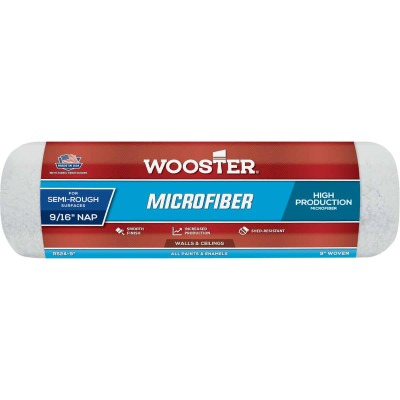Wooster 9 In. x 9/16 In. Microfiber Roller Cover