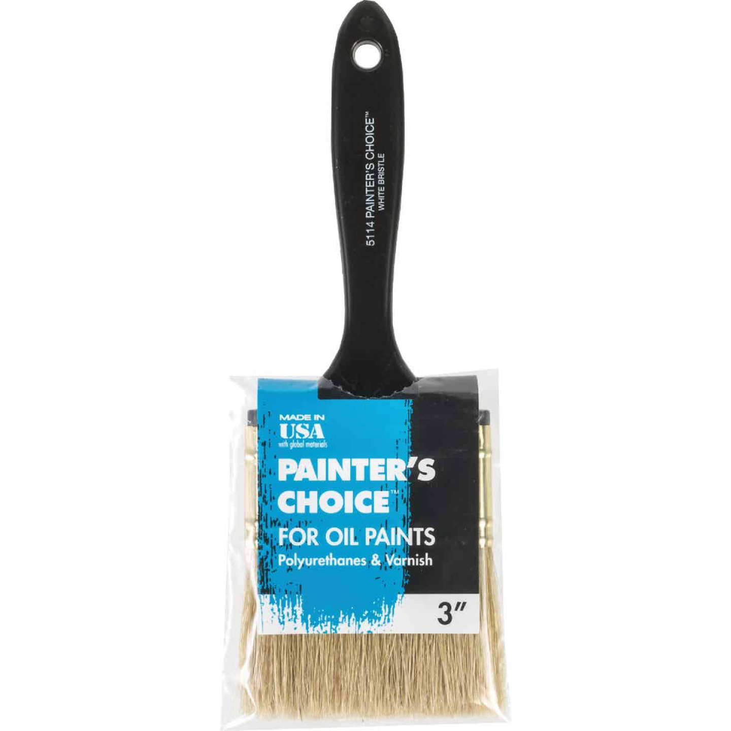 Wooster Painter's Choice 3 In. White China Bristle Flat Paint Brush Image 1