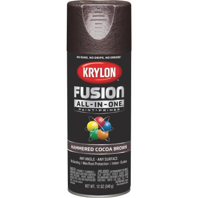 Krylon Fusion All-In-One Hammered Spray Paint & Primer, Cocoa Brown