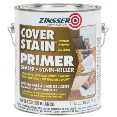 Zinsser Cover-Stain Oil-Base Interior/Exterior Sealer And Stain-Killer Primer, White, 1 Gal.