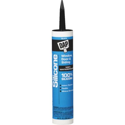 DAP 9.8 Oz. Window, Door & Siding Silicone Sealant, Black