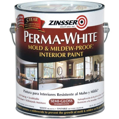 Zinsser Perma-White White-Tintable Semi-Gloss Gallon Mildew Paint