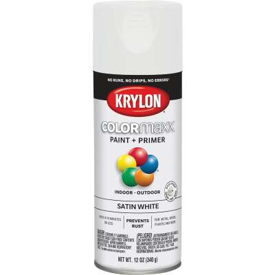 Krylon ColorMaxx 12 Oz. Satin Spray Paint, White
