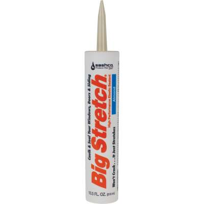 Sashco Big Stretch 10.5 Oz. Almond Acrylic Elastomeric Caulk