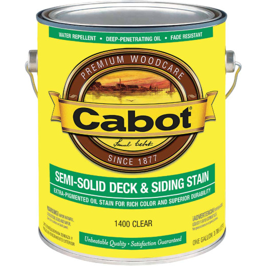 Cabot Semi-Solid Deck & Siding Stain, Clear, 1 Gal.